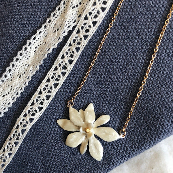 Magnolia Flower Necklace