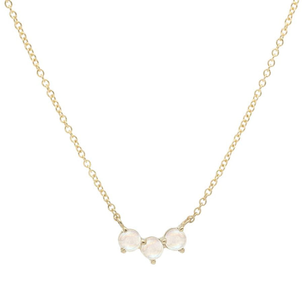 Trio Crescent Necklace - Moonstone