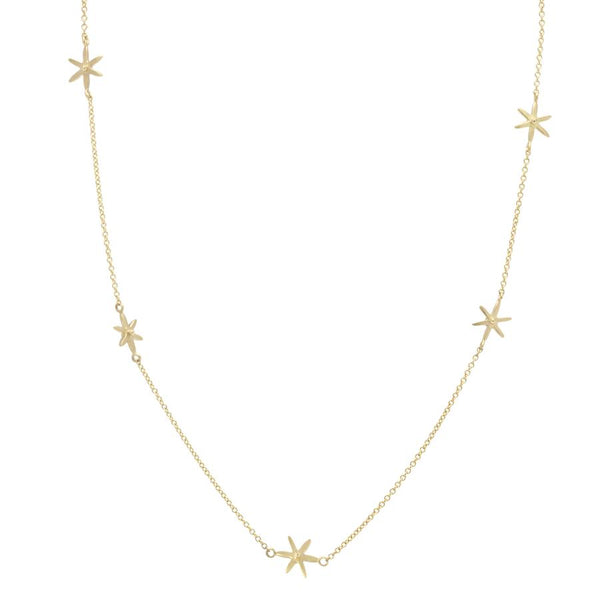 Scattered Star Necklace YG | Magpie Jewellery