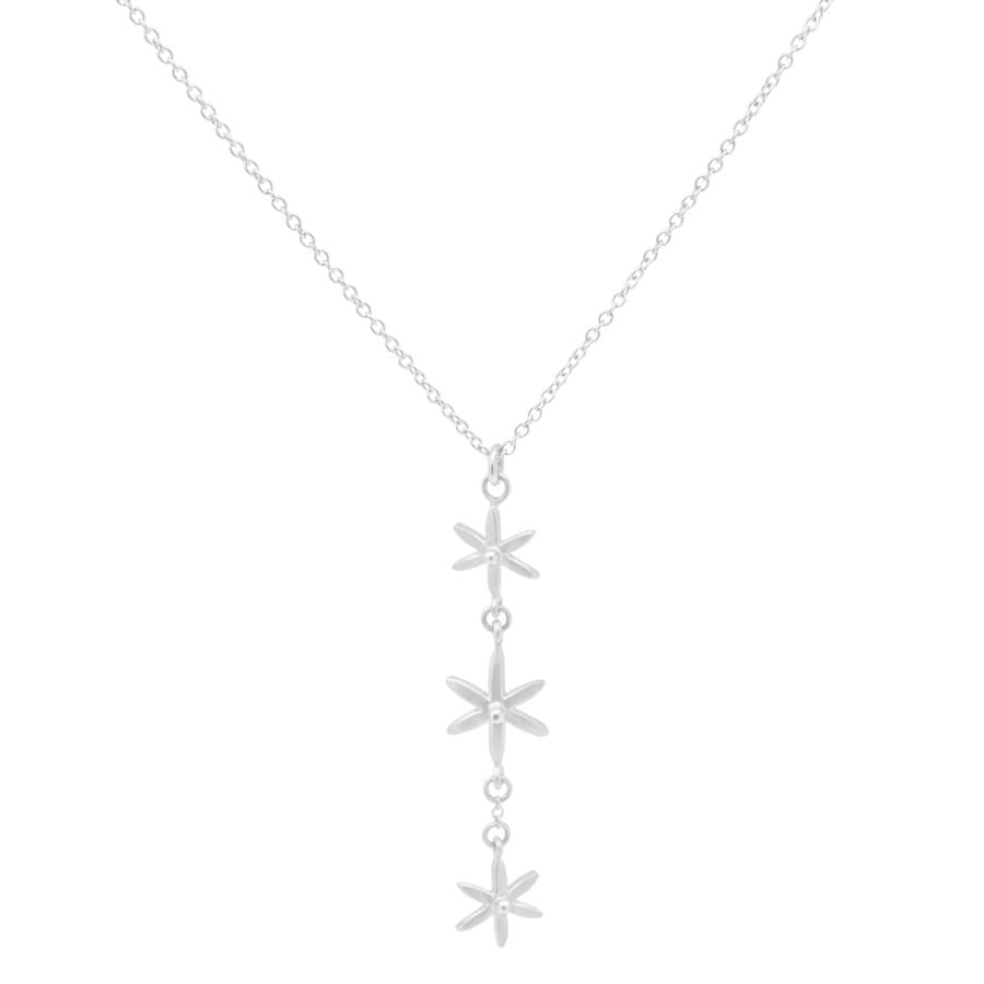 3 Star Pendant Necklace WG | Magpie Jewellery