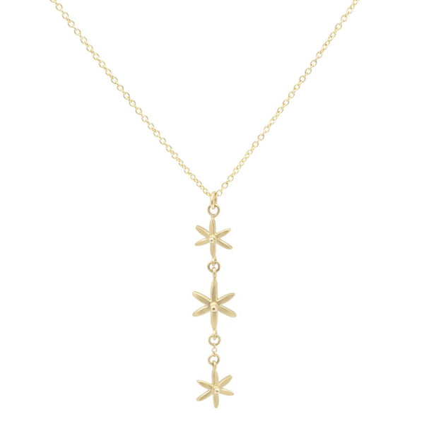 3 Star Pendant Necklace YG | Magpie Jewellery