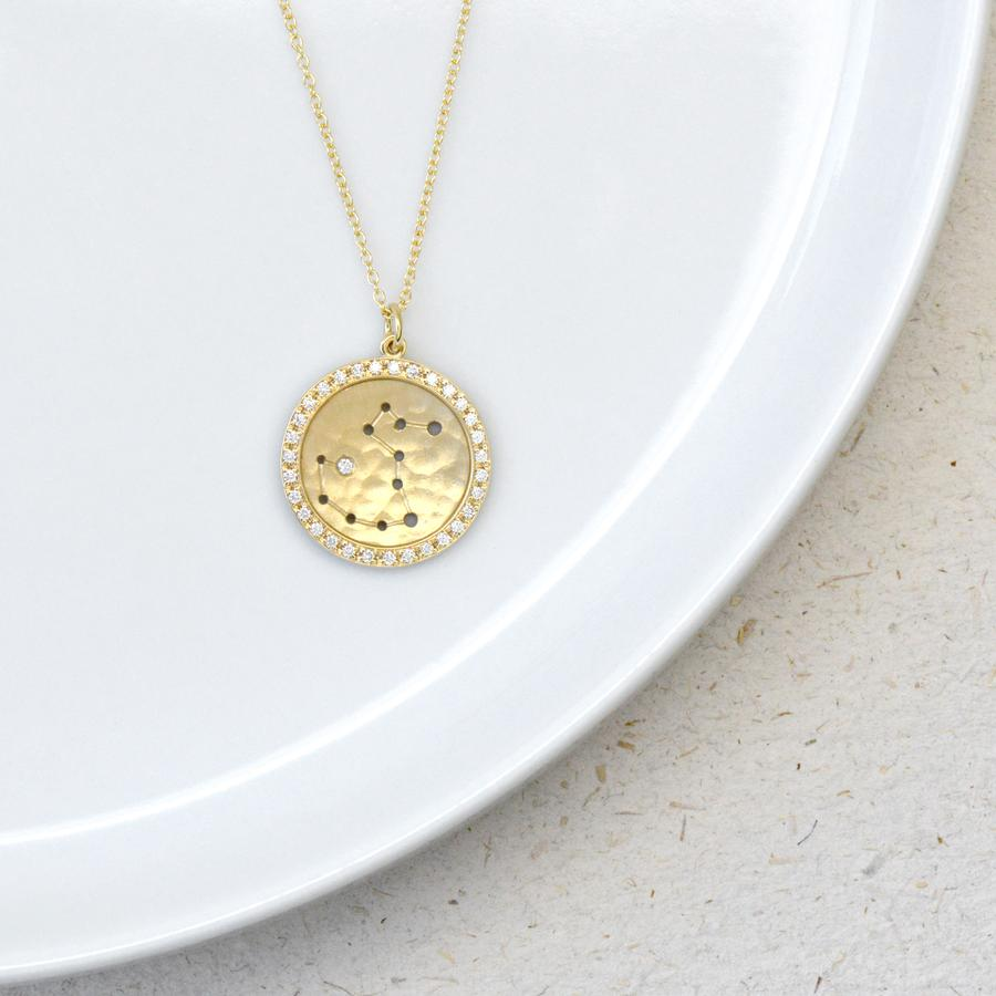 Pave Halo Celestial Sign Necklace | Magpie Jewellery