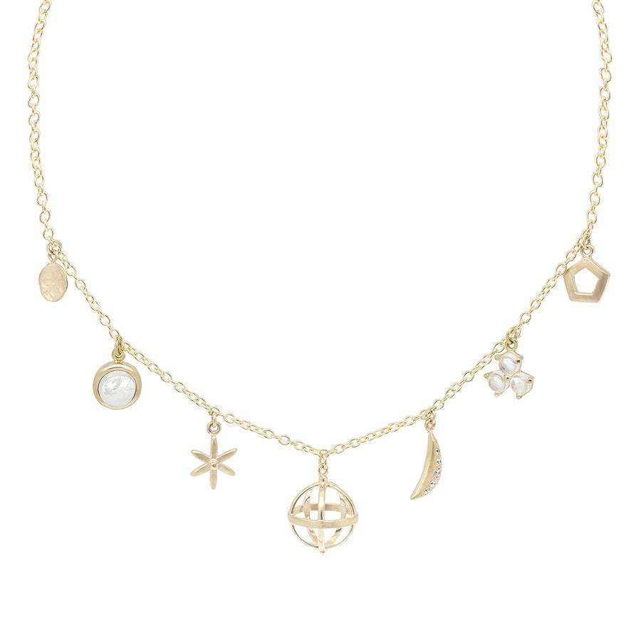 Multi Charm Necklace - Moonstone