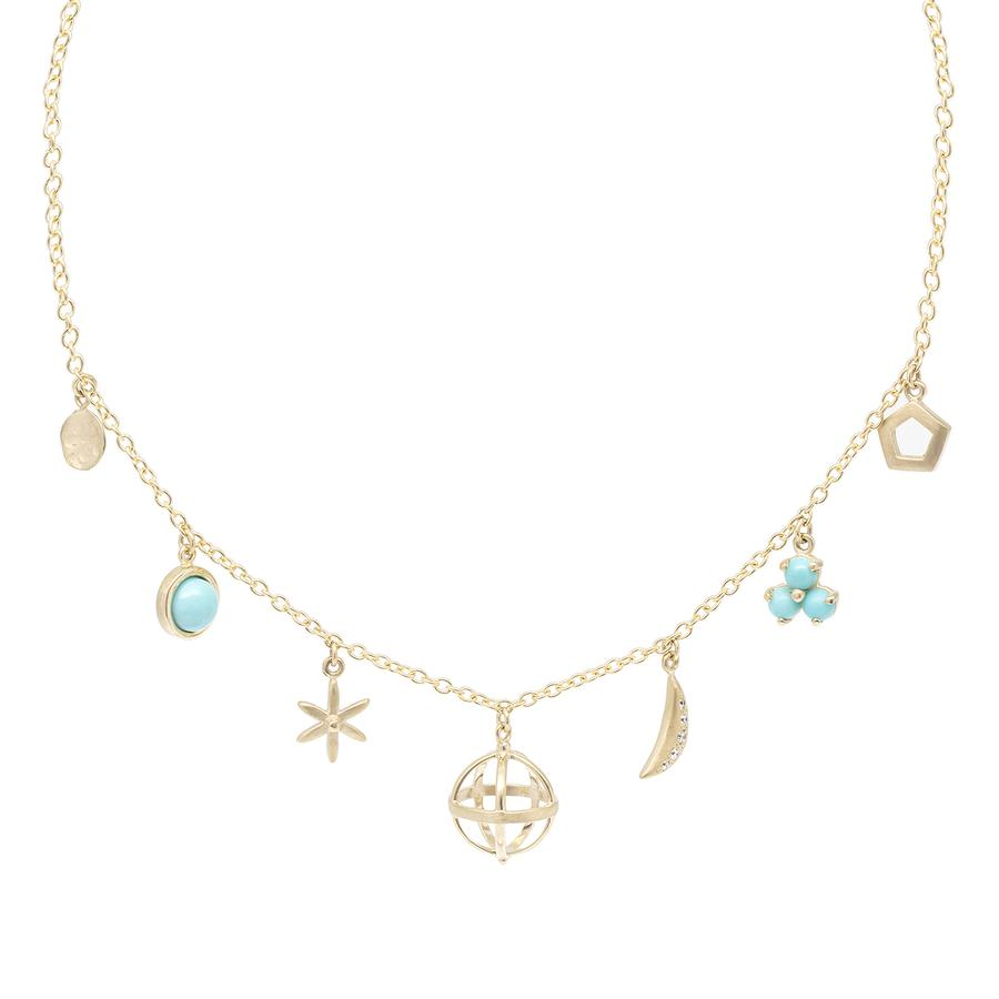Multi Charm Necklace - Turquoise