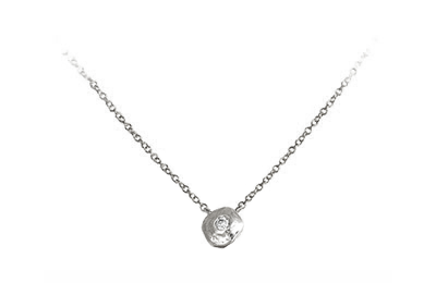 Organic Necklace | Magpie Jewellery - White Gold