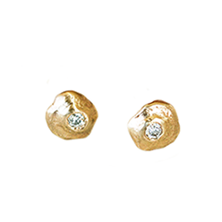 Organic Studs | Magpie Jewellery - Yellow Gold