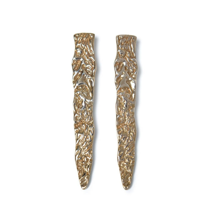 ROMINA LONG TEXTURED SPIKE STUDS