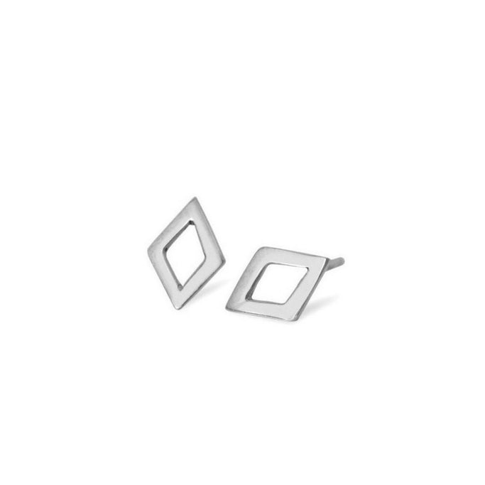 OPEN DIAMOND STUD | Magpie Jewellery Silver