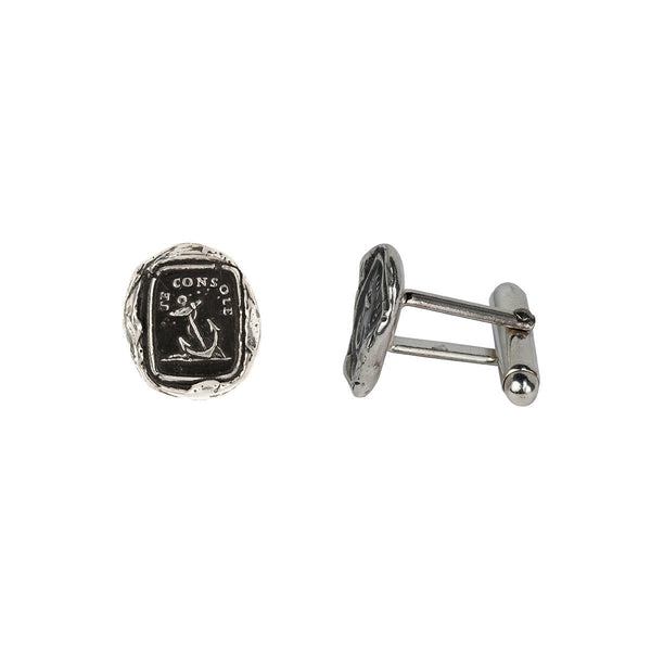 Peace Of Mind Cufflinks-Silver