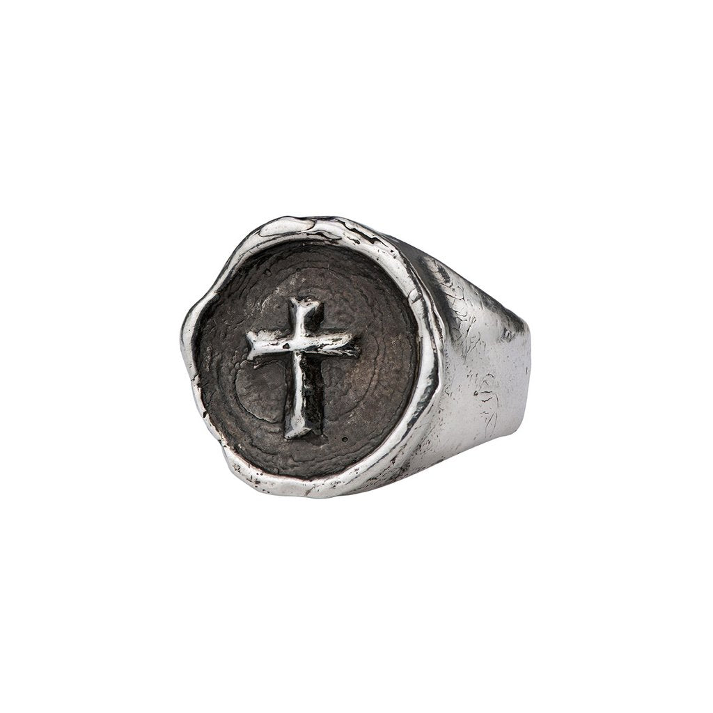 Cross Signet Ring | Magpie Jewellery