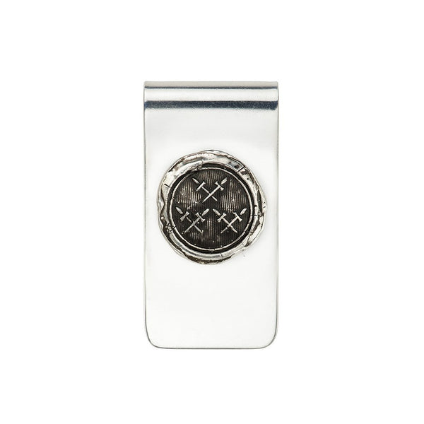 Crossed Daggers Money Clip Silver | Magpie Jewellery