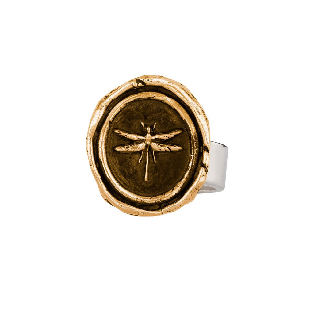 Dragonfly Ring Bronze | Magpie Jewellery
