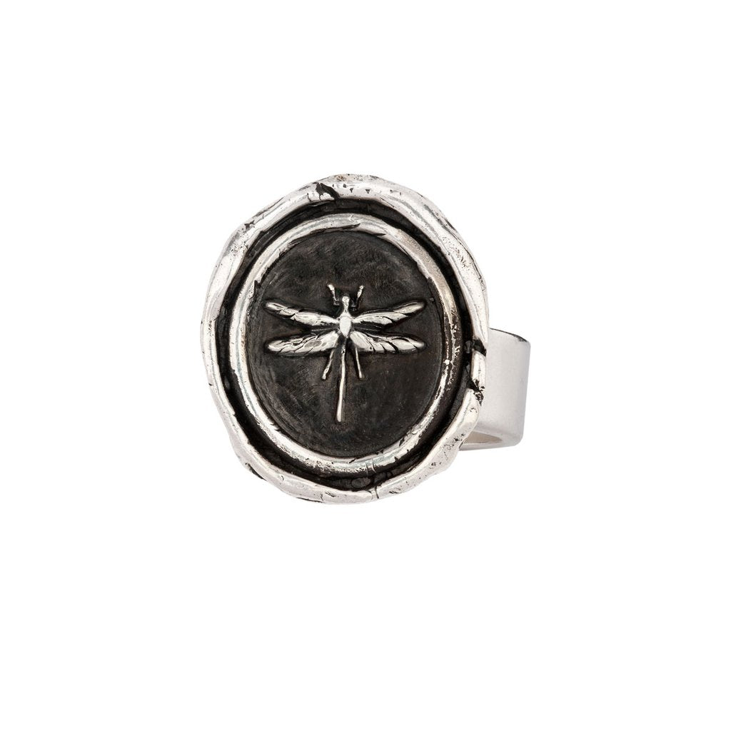 Dragonfly Ring Silver | Magpie Jewellery
