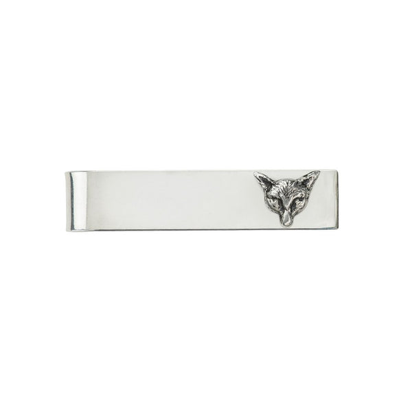 Fox Tie Bar Silver | Magpie Jewellery
