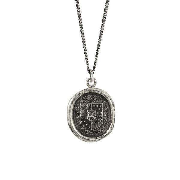 Heart of Courage Talisman - Silver