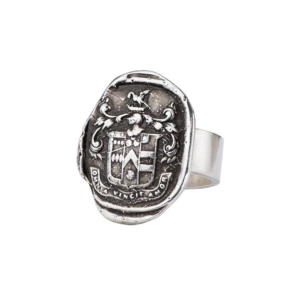 Love Conquers All Talisman Ring Silver | Magpie Jewellery