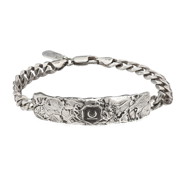 New Beginnings Wide ID Bracelet Silver