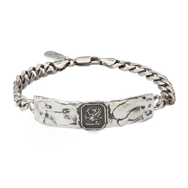Success Talisman Wide ID Bracelet Silver | Magpie Jewellery