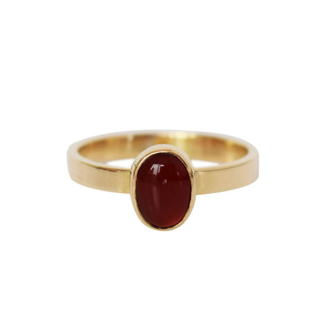 OVAL CABOCHON STONE STACKING RING