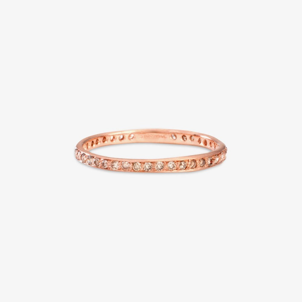 Brown Diamond Eternity Band RG | Magpie Jewellery