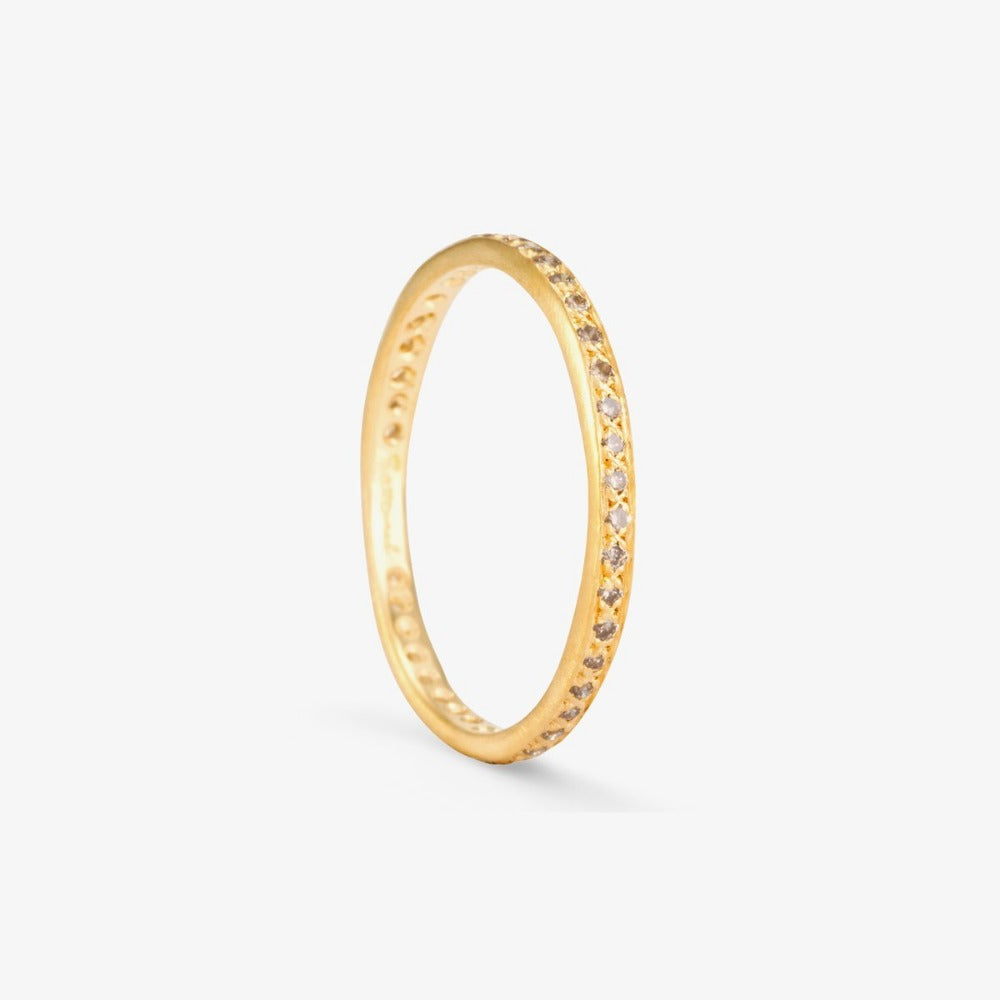 Brown Diamond Eternity Band YG | Magpie Jewellery