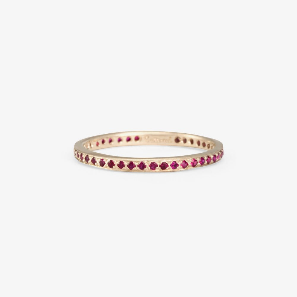 Ruby Eternity Band WG | Magpie Jewellery