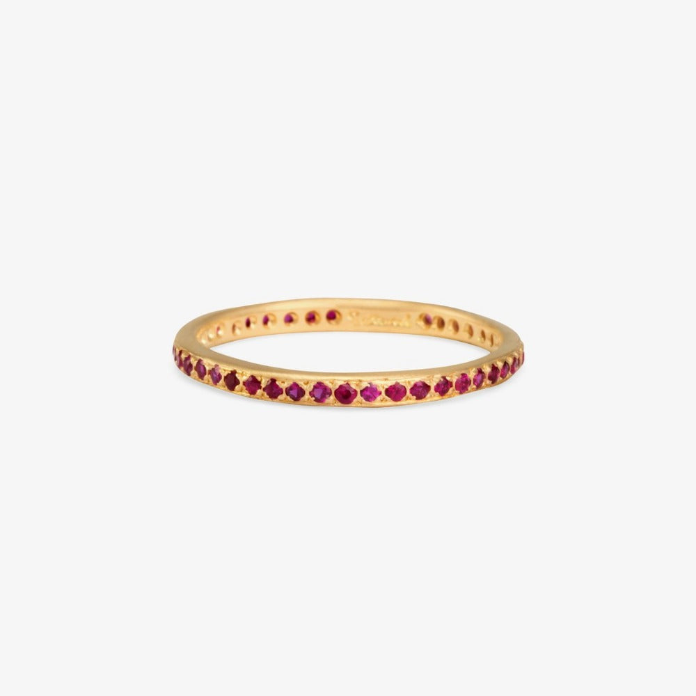 Ruby Eternity Band YG | Magpie Jewellery