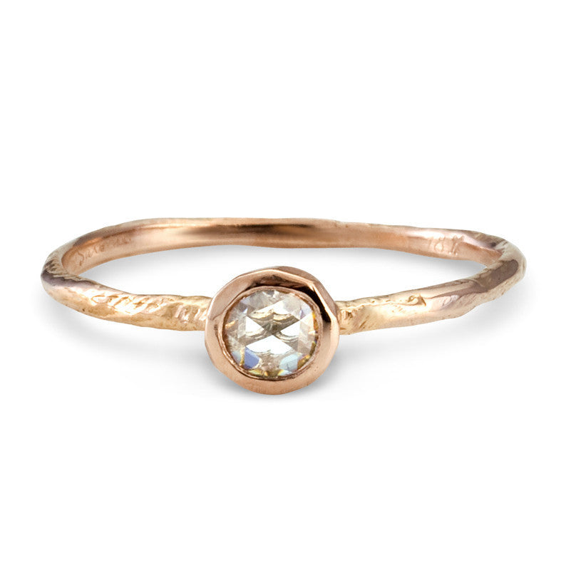 Rose Cut Solitaire Ring | Magpie Jewellery Rose Gold