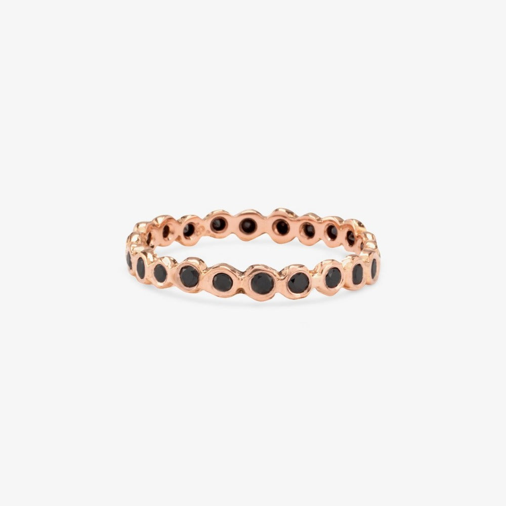 Black Diamond Circle Eternity Band RG | Magpie Jewellery