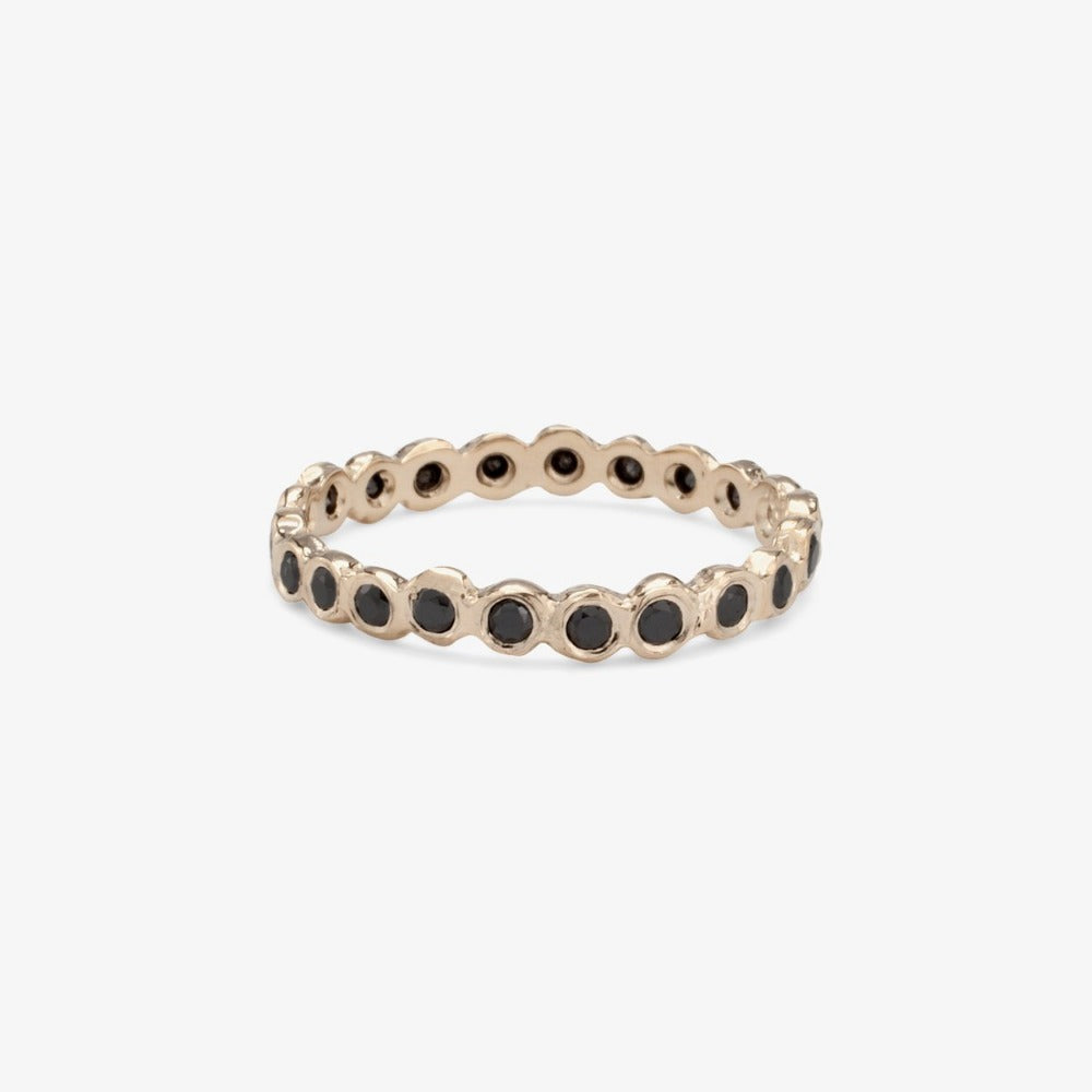 Black Diamond Circle Eternity Band WG | Magpie Jewellery