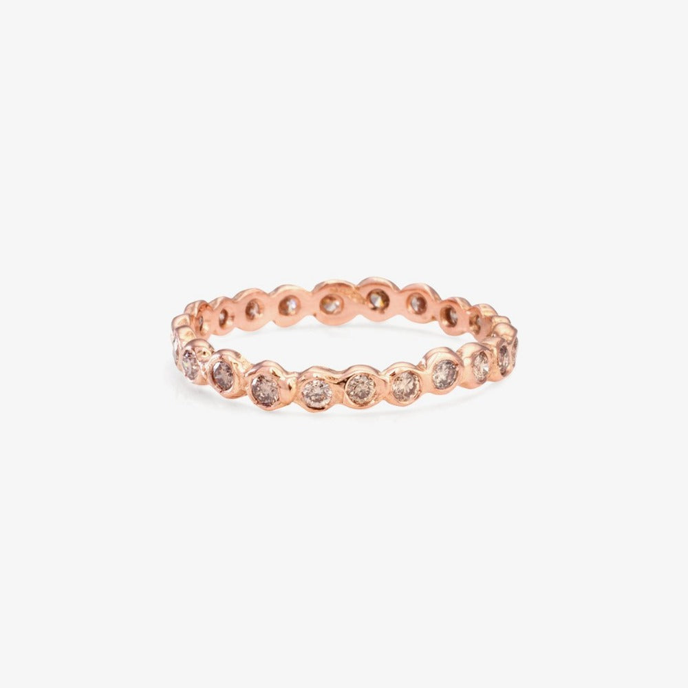 Brown Diamond Circle Eternity Band RG | Magpie Jewellery