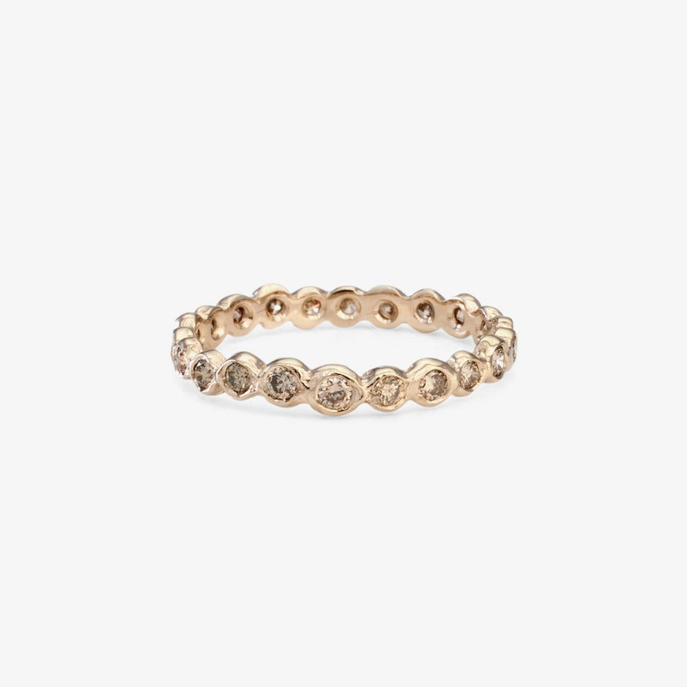 Brown Diamond Circle Eternity Band WG | Magpie Jewellery