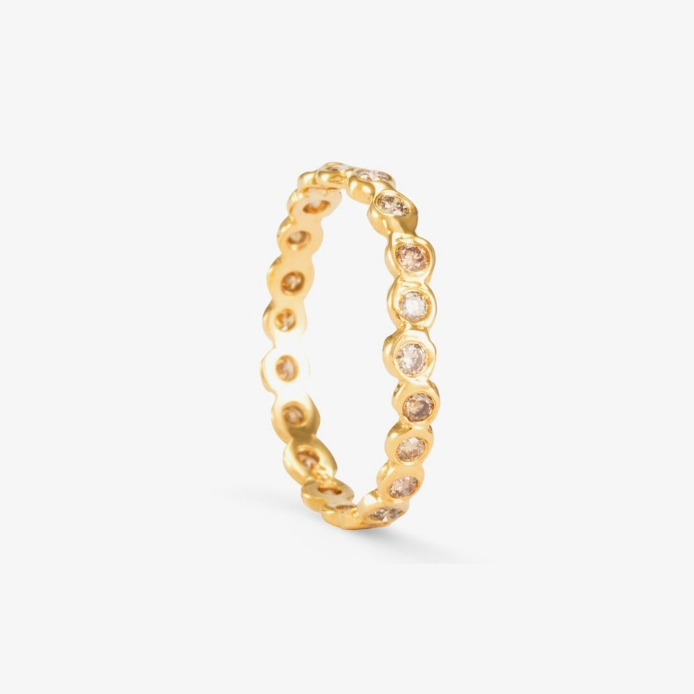 Brown Diamond Circle Eternity Band YG | Magpie Jewellery
