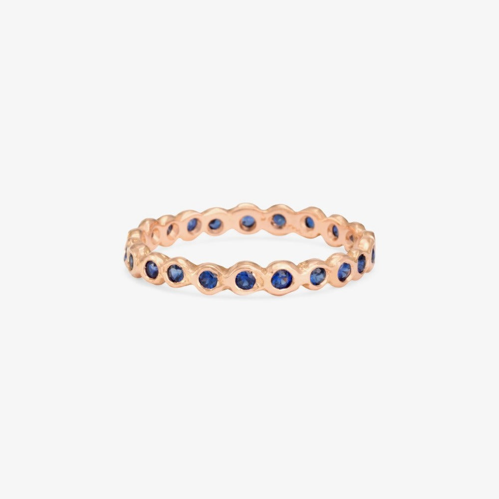 Sapphire Circle Eternity Band RG | Magpie Jewellery
