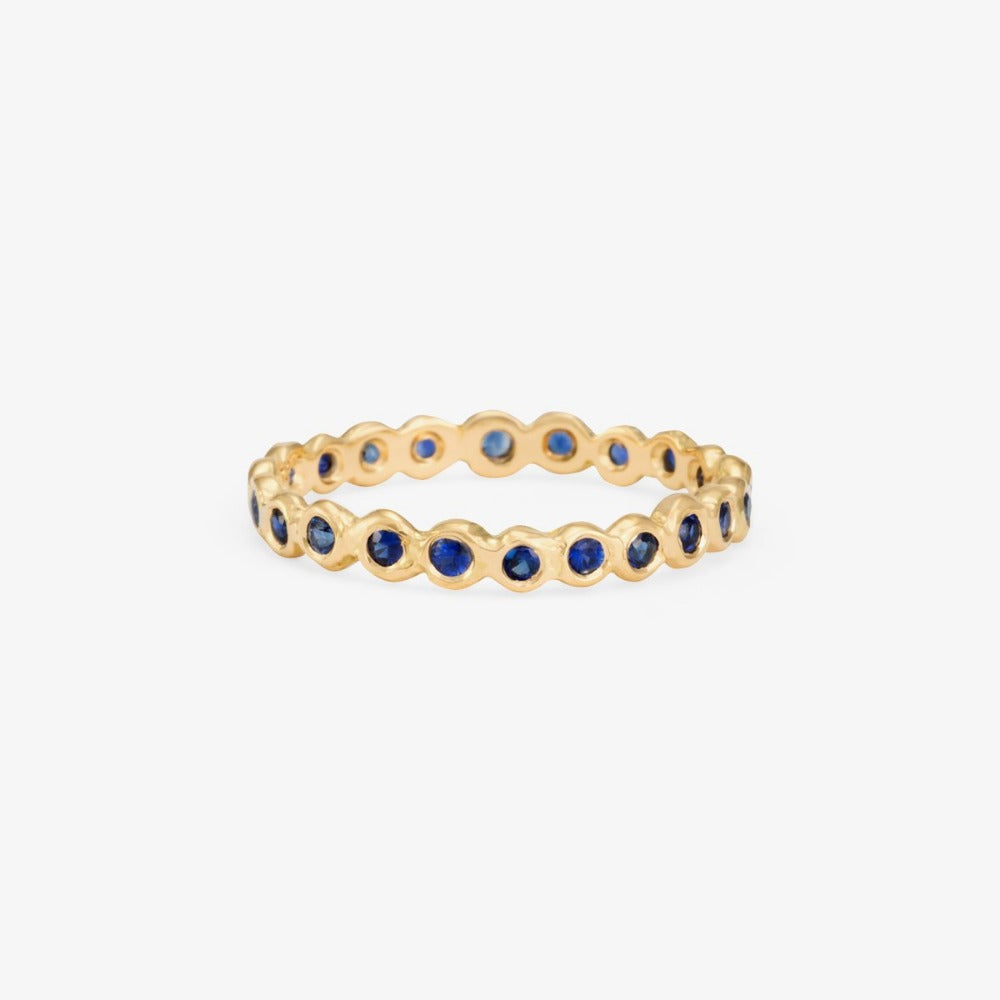 Sapphire Circle Eternity Band YG | Magpie Jewellery