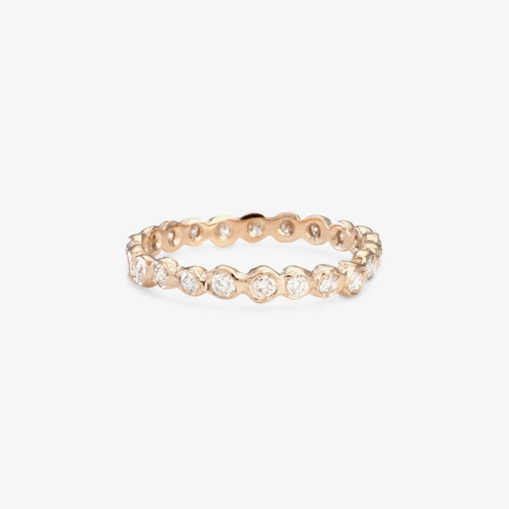 White Diamond Circle Eternity Band WG | Magpie Jewellery