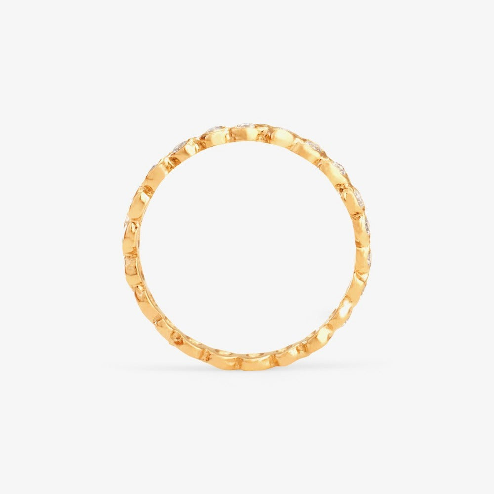White Diamond Circle Eternity Band YG | Magpie Jewellery