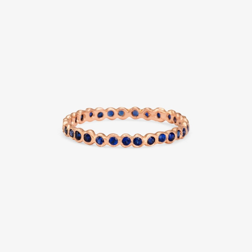 Small Sapphire Circle Eternity Band RG | Magpie Jewellery