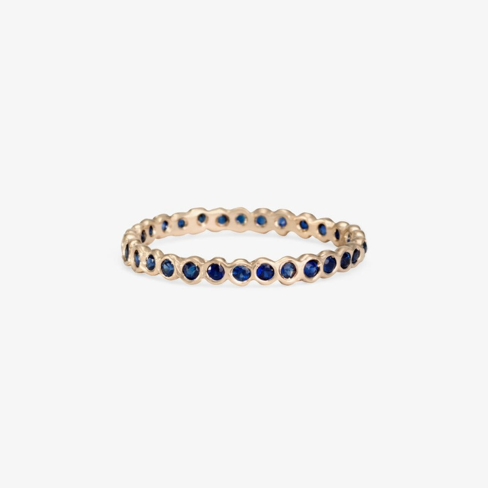 Small Sapphire Circle Eternity Band WG | Magpie Jewellery