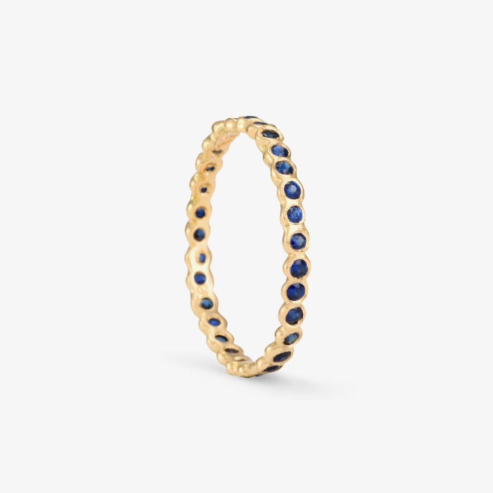 Small Sapphire Circle Eternity Band YG | Magpie Jewellery