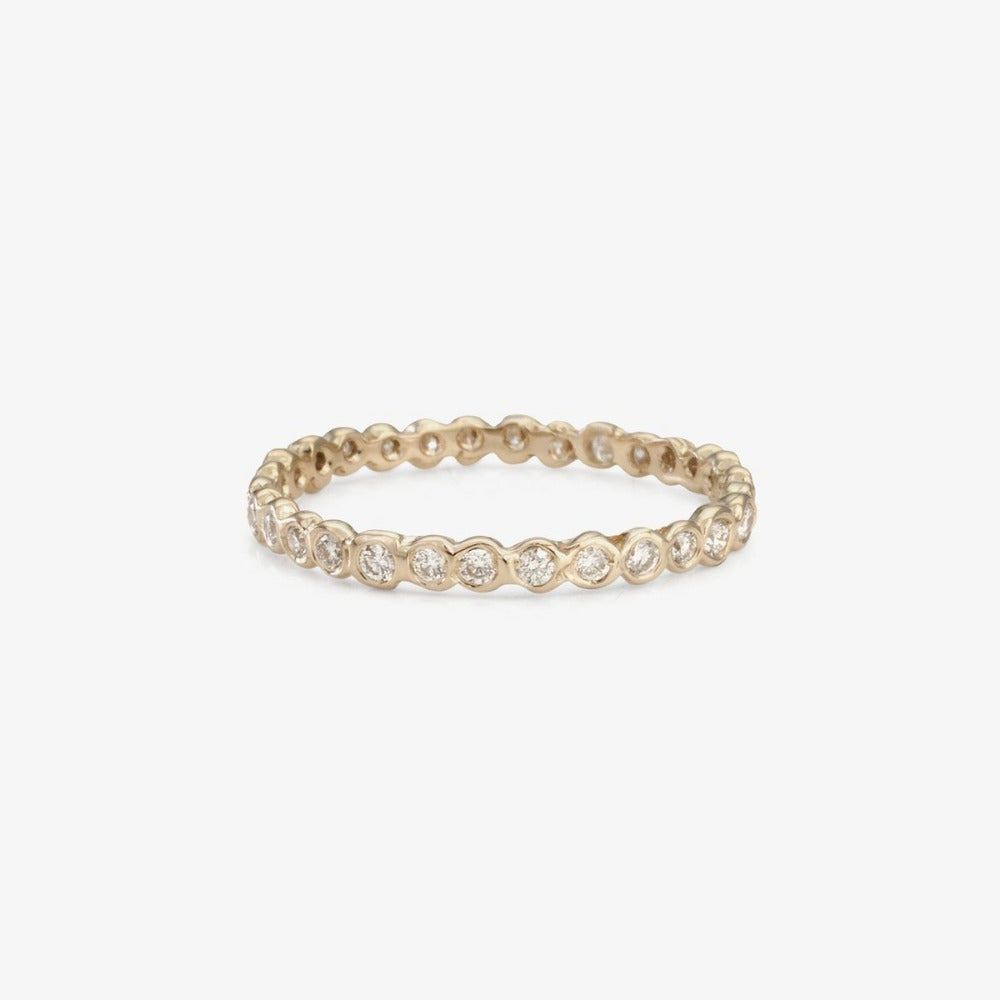 Small White Diamond Circle Eternity Band WG | Magpie Jewellery