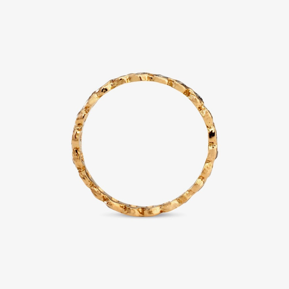 Small White Diamond Circle Eternity Band YG | Magpie Jewellery