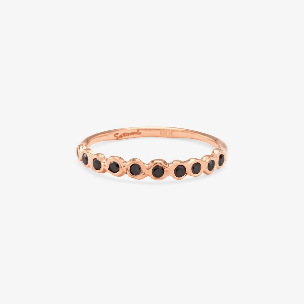 Black Diamond Sweet Ten Band RG | Magpie Jewellery