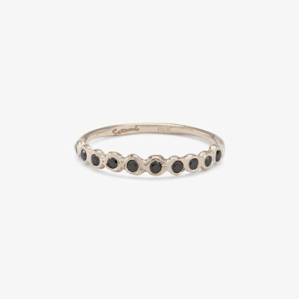 Black Diamond Sweet Ten Band WG | Magpie Jewellery
