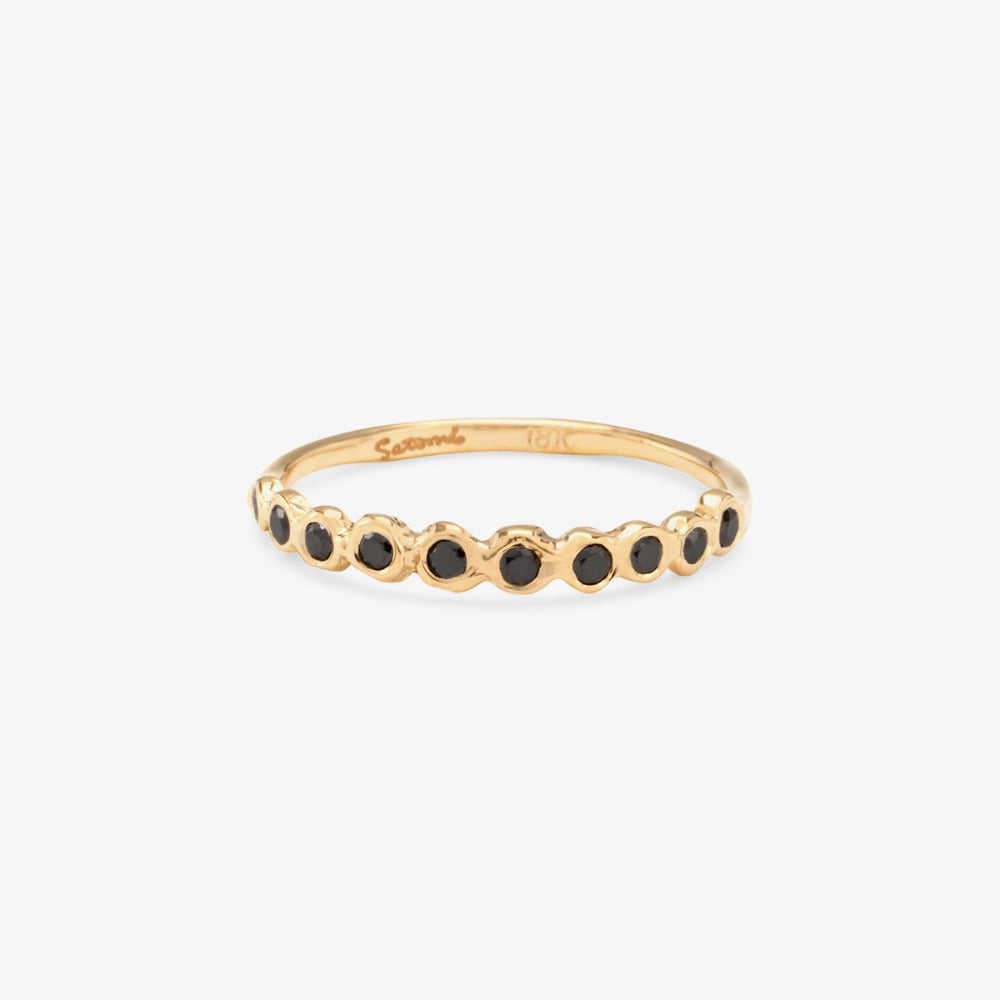 Black Diamond Sweet Ten Band YG | Magpie Jewellery