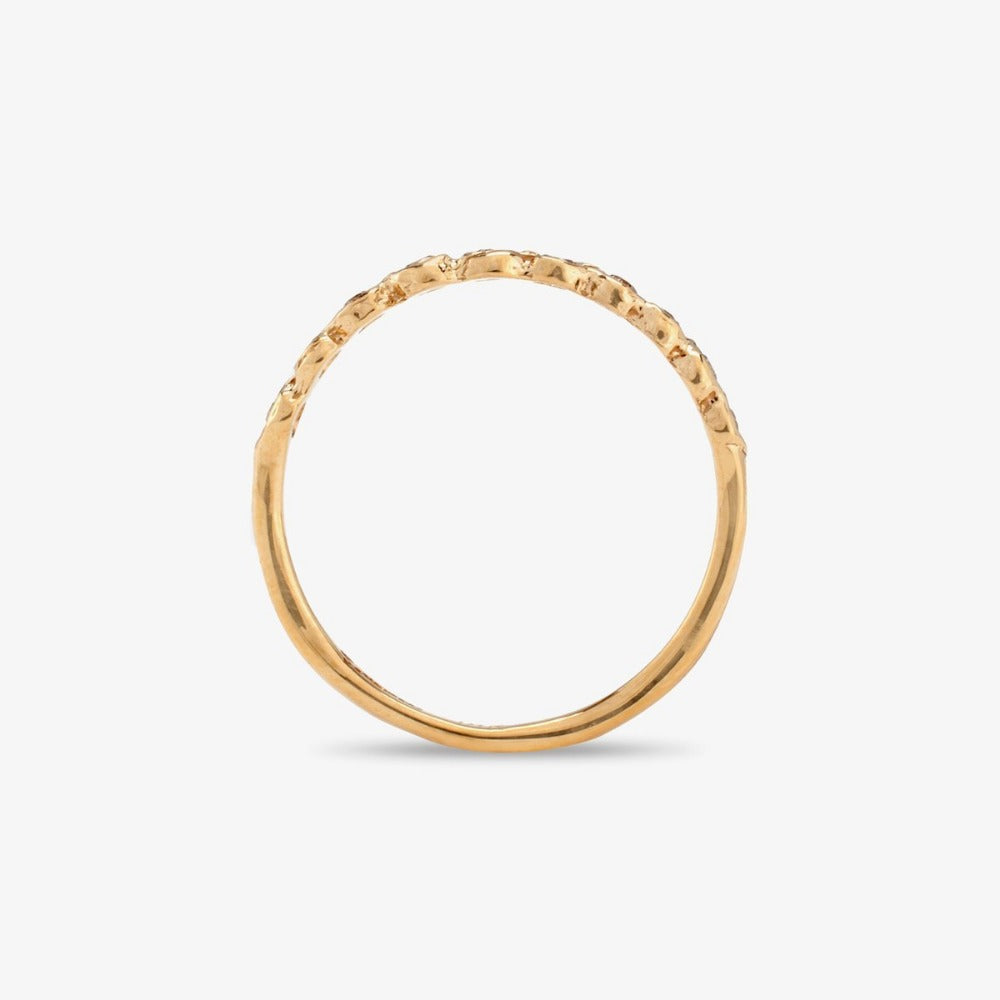 Brown Diamond Sweet Ten Band YG | Magpie Jewellery