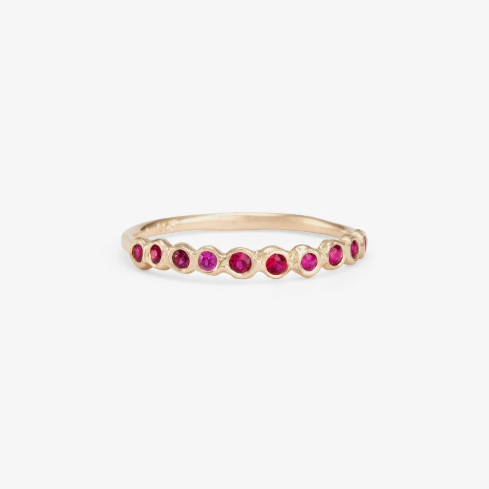 Ruby Sweet Ten Band WG | Magpie Jewellery