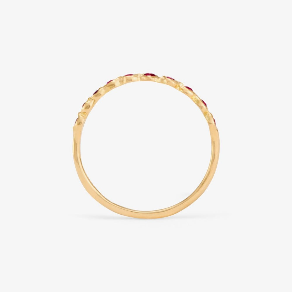 Ruby Sweet Ten Band YG | Magpie Jewellery