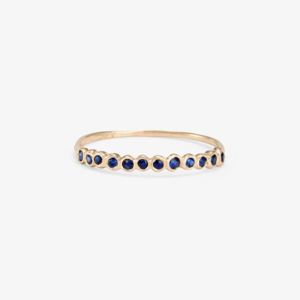 Small Sapphire Circle Half Eternity Band WG | Magpie Jewellery