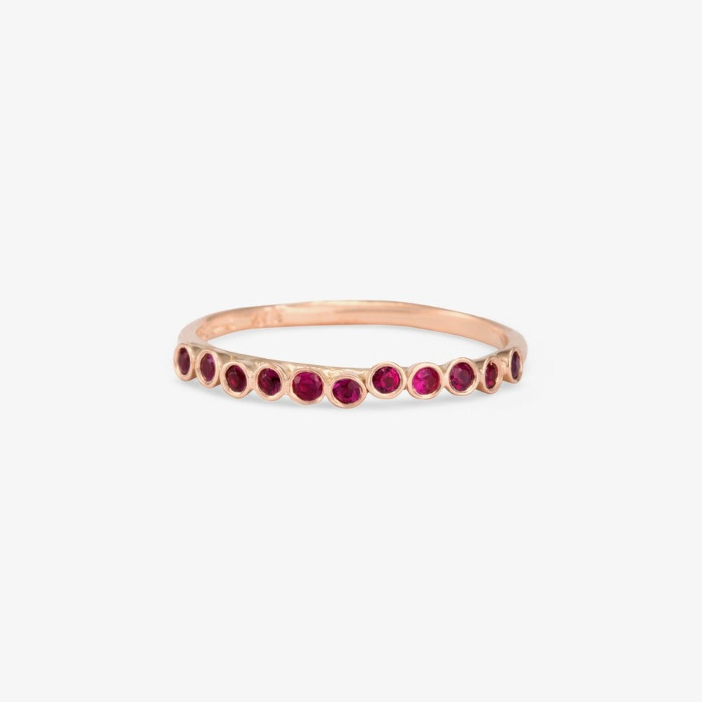 Ruby Raised Band RG | Magpie Jewellery